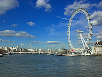 Ansicht Attraktion  Das Riesenrad London Eye