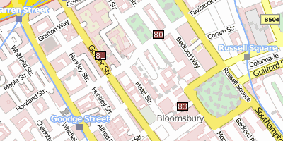 Stadtplan University of London London